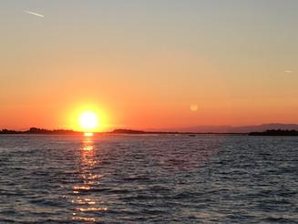 Sunset over lagoon.JPG