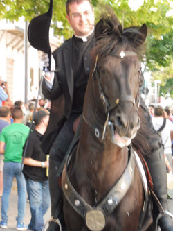 Mahon Horse with the local Father