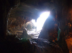 Inside the cave