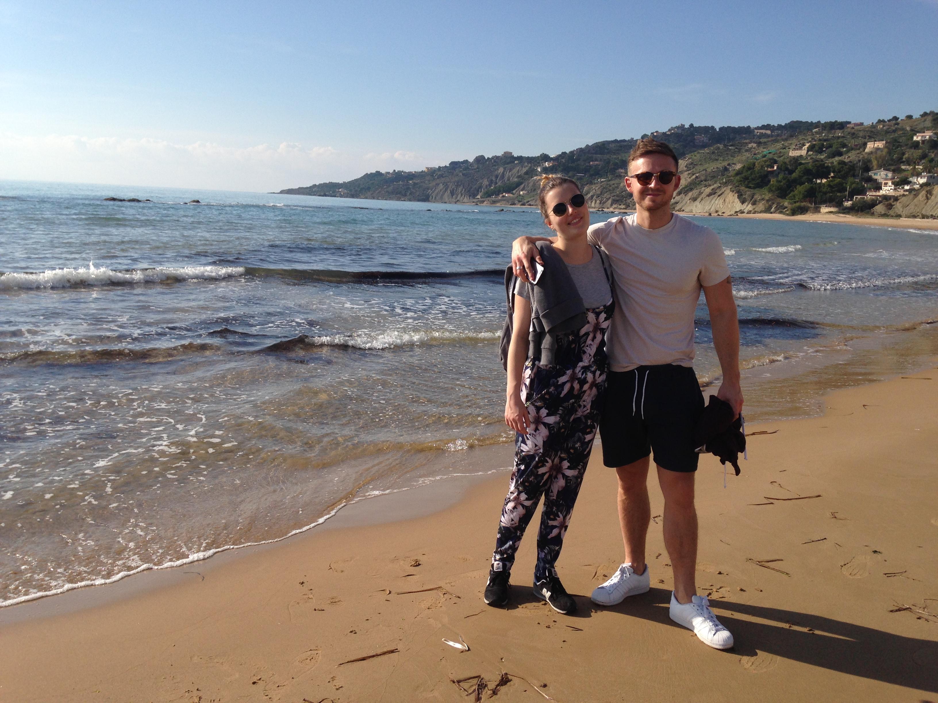 Joy and Ed on the beach