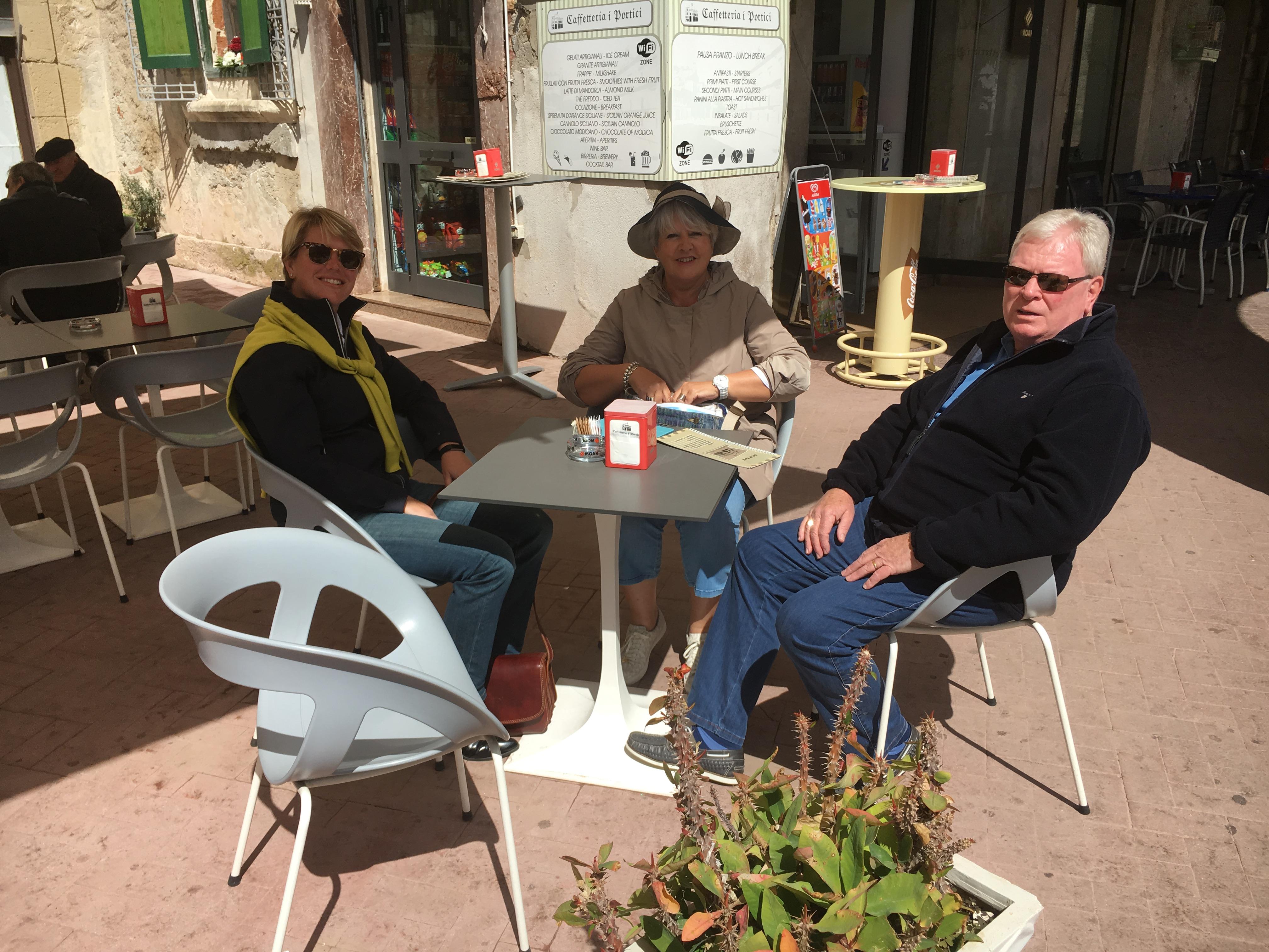 Tea with David and Lauri