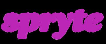 Spryte logo wordmark reversed (trans bgr