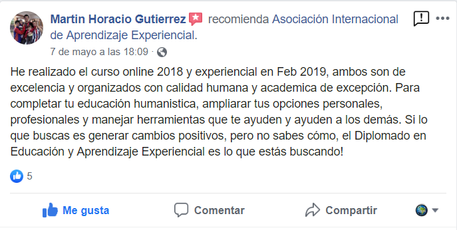opinion asociacion internacional aprendizaje experiencial