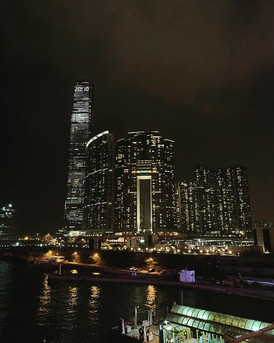 Hong Kong night.