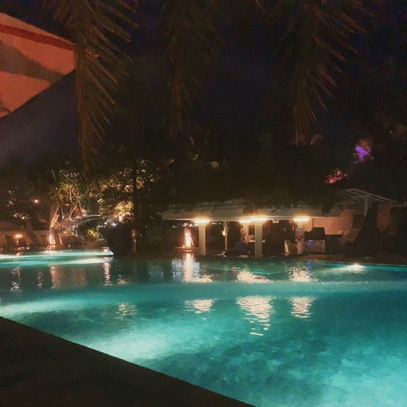 bali resort night pool