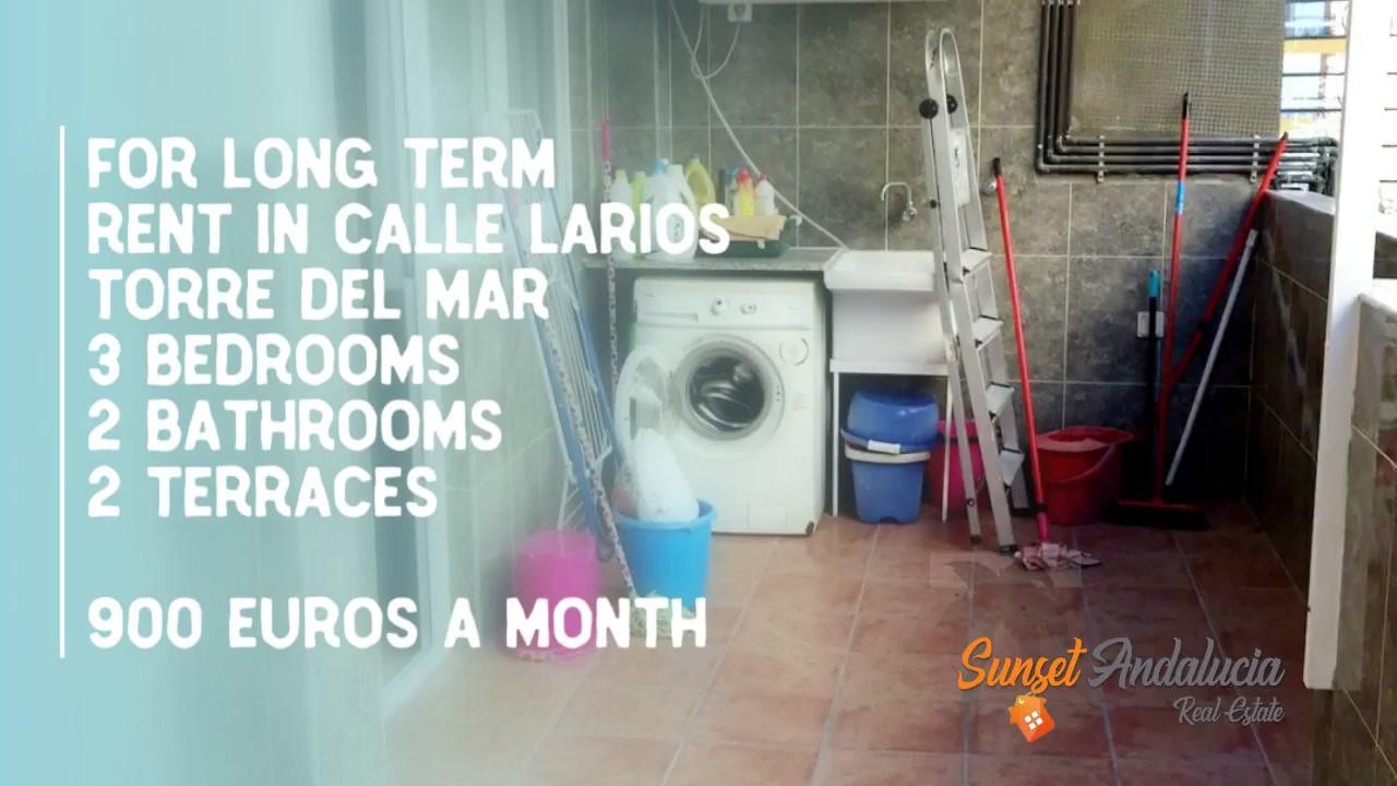 long term rental Torre del mar 900.-
