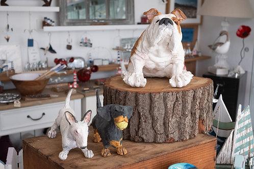 Ceramic Dog Statues