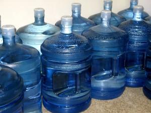 Eleven water jugs