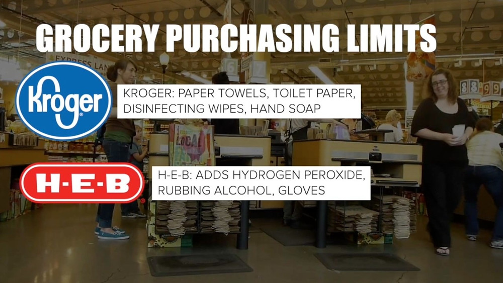 Grocery purchasing limits at Kroger and H-E-B