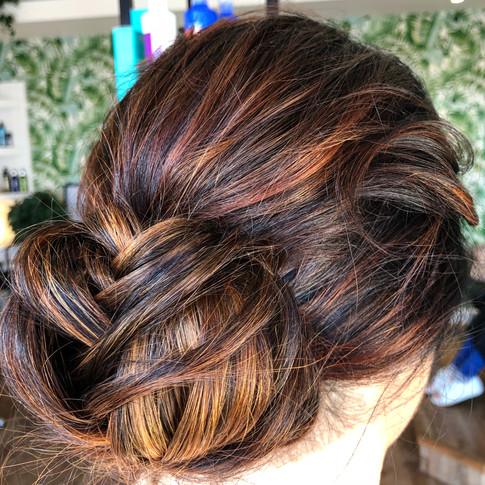 Wedding hair, Cornwall