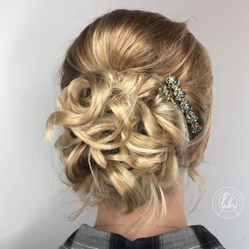 Hair up, Wedding hair, Cornwall
