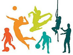 Children playing different types of sports.