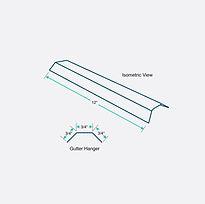Isometric View - Gutter Hanger - EMax.jp