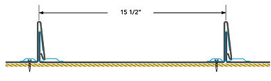 PLUSMAX Line Drawing with Fastener Patte