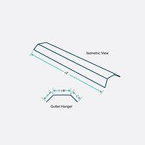 Isometric View - Gutter Hanger - PBRMax.