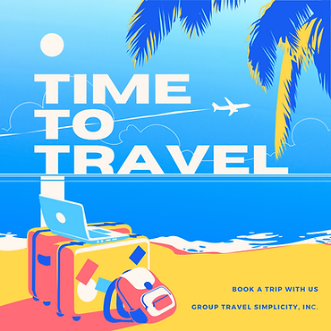 ime to travel Promo Instagram post templ