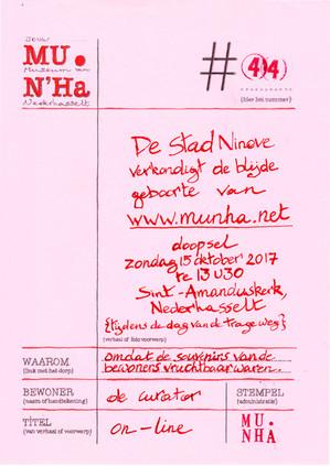 MU.N'Ha On-Line 15.10.'17 te 13u30