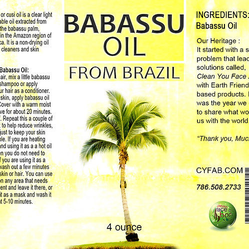 Babassu Oil 4oz