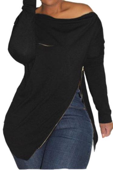 Slanted Zip Sweater