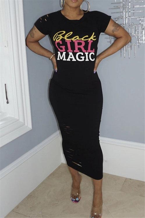 Black Girl Magic Midi Dress