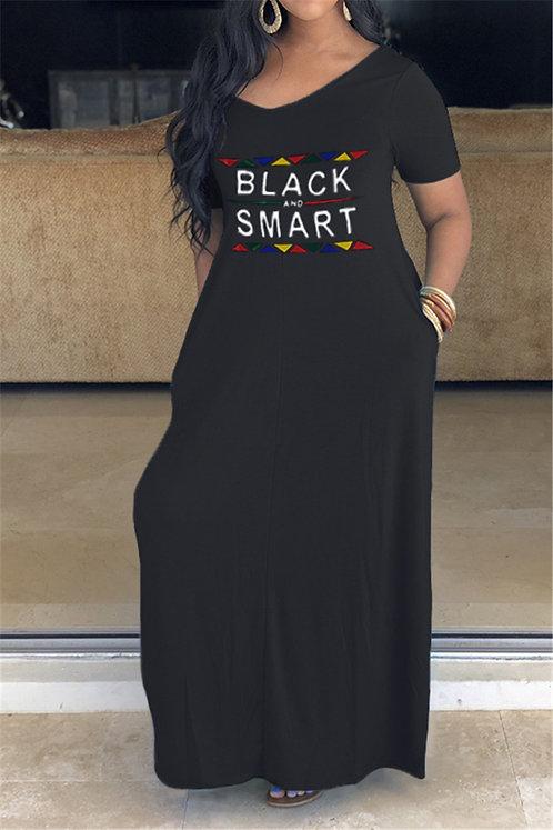 Black & Smart Pocket Dress