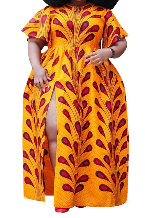 High Split Loose Maxi Dress
