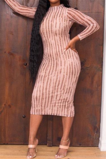 Mesh Velvet Dress