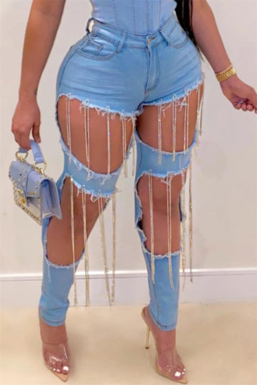 Chain Tassel Jeans