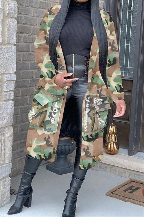 Camo & Print Coat