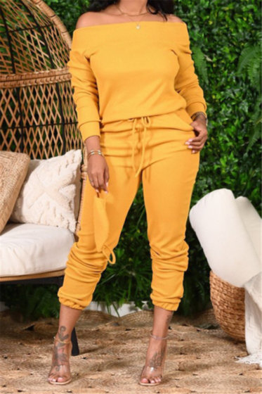 Off Shoulder Sweat Suit