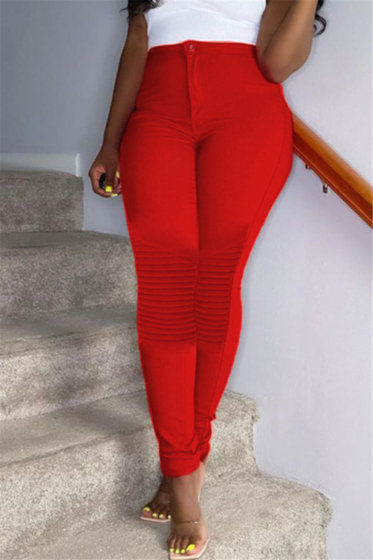 High Waisted Fitted Pants