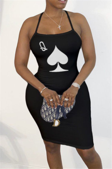 Queen Open Back Midi Dress