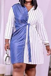 Single Breasted Mini Dress