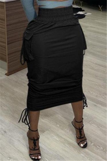 Cargo Drawstring Skirt