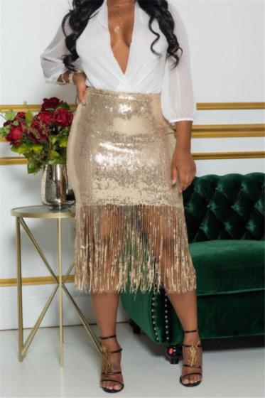 Sequins Tassel Skirt