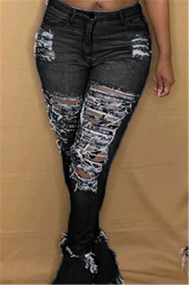 Ripped Flare Jeans
