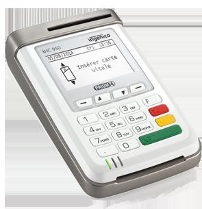 INGENICO / Kit PRIUM4 mode PC-SC + BAL prismm.re + Télémise à jour* carte vitale