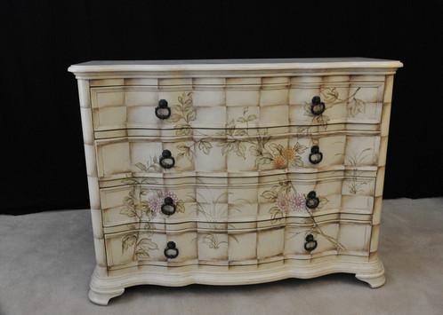 French fleur bow avant drawer art déco furniture melbourne victoria regency