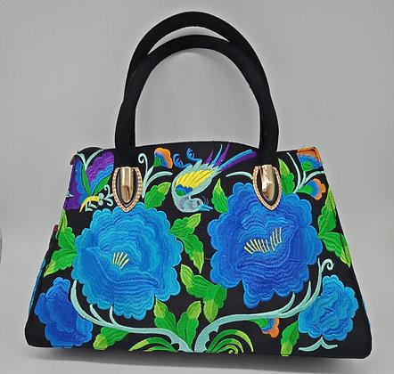 Large Flower Pattern Hand Bag