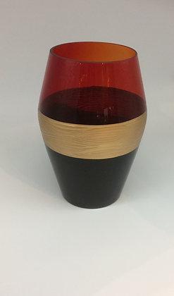 Large Convex Tricolor Vase