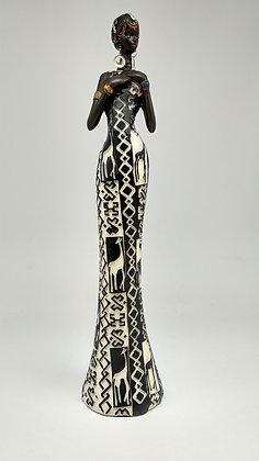African Lady in a giraffe dress