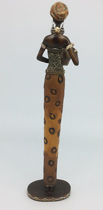 African Lady with a Leopard dress