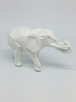 White Cubist Elephant