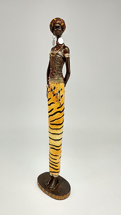 African Lady in a tiger dress