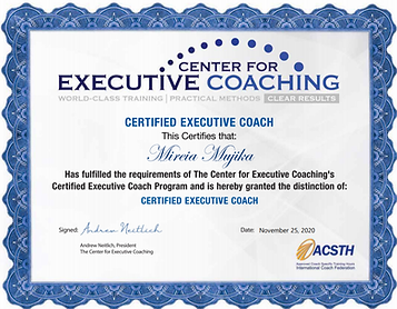 executive coaching certificate mireia mu