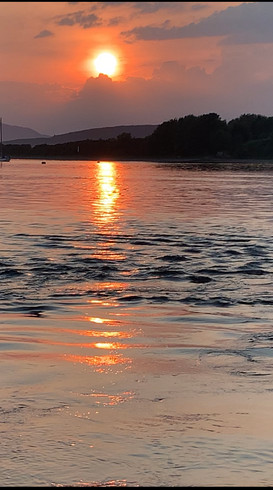 Sunset over Connel