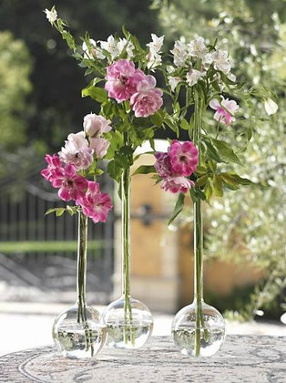 French Glass Bud Vases, 2 Sizes