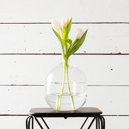 Parisian Glass Bottle Vases