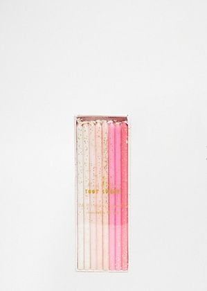 Ombre Glitter Candles by Meri Meri