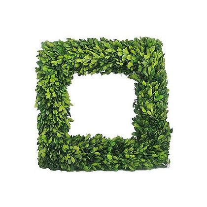 Preserved Boxwood Square Wreath